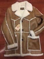 Schott Perfecto Brand Shearling Rancher Coat Genuine Sheepskin Made In Usa Xl 44