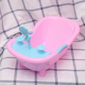 Mini-Pink-Plastic-Shower-Bathtub-for-Doll-House-Furniture-Decor-Gift-CA