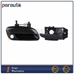 Door Handle Smooth Black Rear Outer Passenger Side Right for 01-06 Elantra