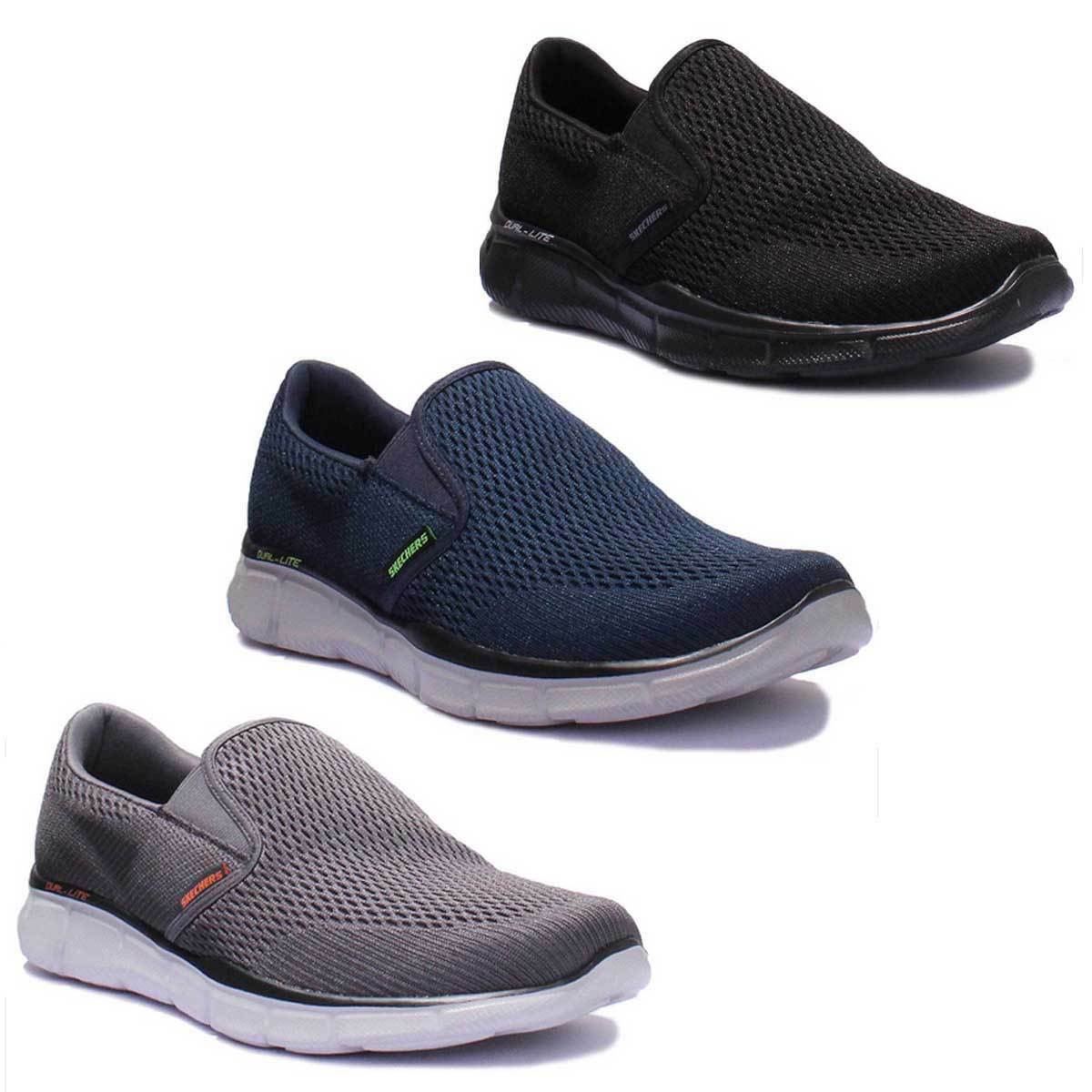 Skechers Equalizer – Double Play Charcoal Men Slip On Trainers