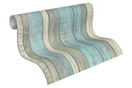 "31993-2 edle Vliestapete /""Wood /& Stone/"" Holz-Design Tapete Vintage Shabby-Look"