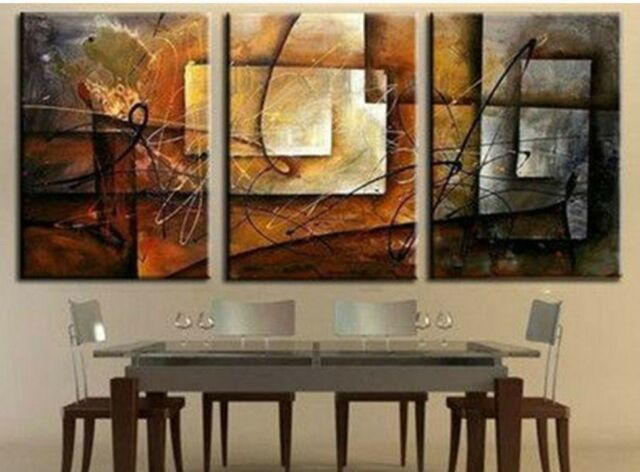 3 pieces together Large Modern Abstract Huge Art Oil Painting Canvas