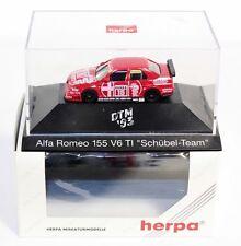 "Herpa 036023, Alfa Romeo 155 V6 TI "" Schübel Team"",1:87, im Okt.     #ab1520"