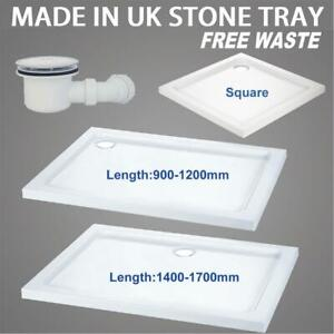 Square rectangle shower tray for shower enclosure glass door Free Waste