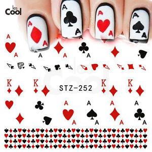 Detalles De Pegatinas Al Agua Para Uñas Tatoo Acrílico Porcelana Gel Decals Nails Sticker