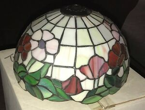 Tiffany reproduction stained glass lamp shade poppy 10 hand made image is loading tiffany reproduction stained glass lamp shade poppy 10 aloadofball Image collections
