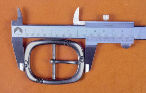 Lourd Large Silver Center Barre Remplacement Hommes Boucle de ceinture pour 40 Mm Ceintures Sangle