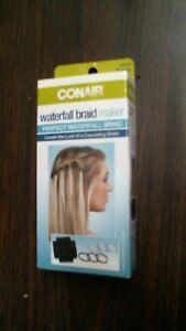 Image Is Loading Conair Hair Waterfall Braid Maker Create Look Cascading