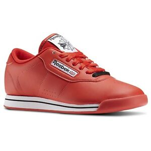 61181057c88 Image is loading Reebok-Princess-Red-J95025-Leather-Women-shoes