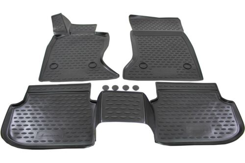 NFLBM703 3D Design Gummimatten Gummifußmatten für BMW 5er F10 F11 2010-16 4tlg