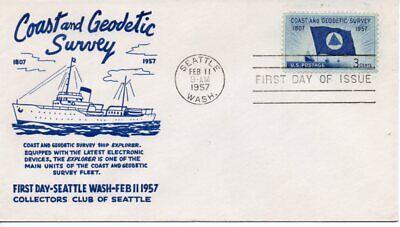 100% QualitäT Us Fdc #1088 Geodätische Survey, Sammler Club Of Seattle (8693)