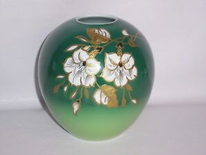 Details about Hand Painted Goldrelief Porcelain Vase by Wallendorf