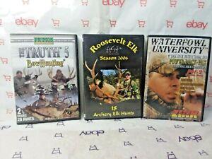 Lot-of-3-Hunting-DVD-039-s-Waterfowl-Bow-Hunting-Elk-Big-Bucks-FREE-SHIPPING