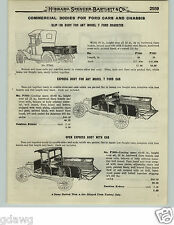 1919 PAPER AD Truck Body For Model T Ford Pick Up Express Stake Cab Commercial