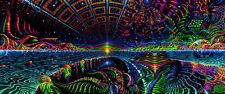Backdrop Terraforming Psychedelic Deco Wandbehang 1m x 2,5m Hippie Goa Tuch UV