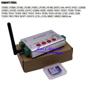 quality design 031ee 8eb31 Details about WIFI LED APP Pixel SD Card Controller DMX 512 APA102 WS2812B  WS2811 WS2801 Strip