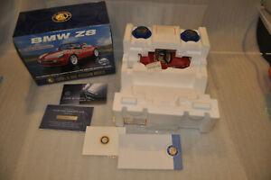 Superb Franklin Mint BMW Z8 Roadster Diecast 1:24 COA Boxes Accessries B11ZK57