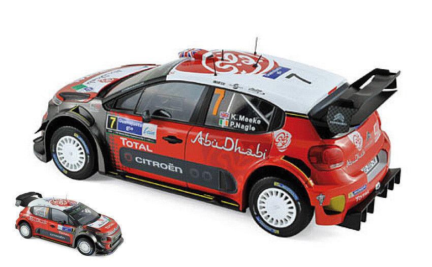 CITROEN c3 WRC  7 WINNER MEXICO 2017 K. Meeke/P. Nagle 1:18 MODEL NOREV