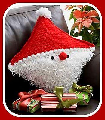 CROCHET PATTERN Santa Pillow Christmas Gift Home Decor Cushion | eBay