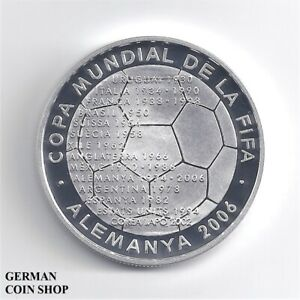 Andorra-10-Diners-2003-FIFA-World-Cup-2006-Silber-PP-Fusball-silver-proof