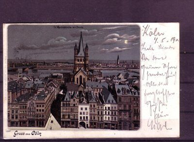 Eine Lange Historische Stellung Haben martinskirche- europa:11327 Gelaufene Ansichtskarte Köln
