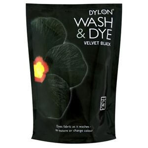 350g-VELVET-BLACK-DYLON-MACHINE-WASH-COLOUR-FABRIC-CLOTHES-T-SHIRT-JEANS-DYE