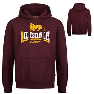 Lonsdale Oxblood Classic Hooded Sweatshirt Hoodie Regular-Fit Kapuze Thurning