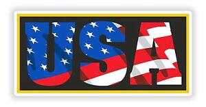 994348d33 1x Sticker USA American Patriot Decal United States Flag Letters for ...