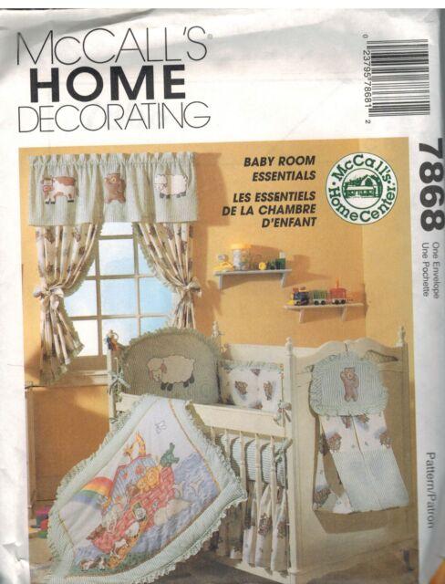 7868 Uncut McCalls Nähmuster Baby Kleinkind Zimmer Essentials Bogen ...