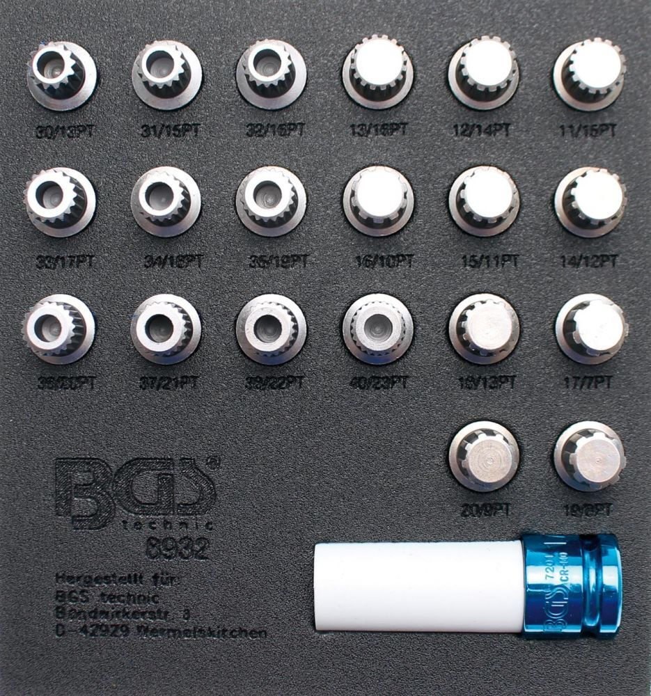 BGS Felgenschloss-Werkzeugsatz for BMW, 21 Parts 8932