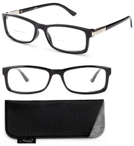 3fd52450ba7 Image is loading Bifocal-Reading-Glasses-Black-Spring-Hinge-Readers -Rectangular-