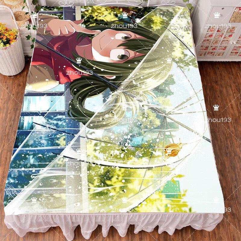 Anime My Boku no Hero Academia Asui Tsuyu Flano Micro Bedsheet Cos 1.52m