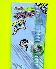 Powerpuff Girls Bubble Buttercup Blossom URBAN STATION Clear Wrist Watch Plastic