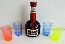 Set of Four 2oz.Colorful Non-Breakable Plastic Shot Glasses