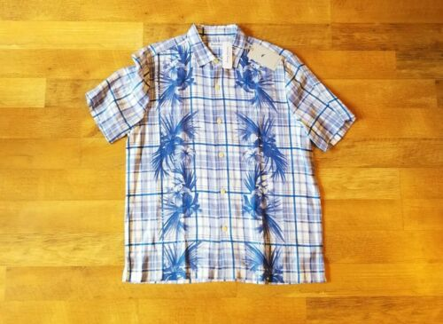 TOMMY BAHAMA men/'s large XL LATTICE BAY SANTORINI BLUE shirt NEW WITH TAGS