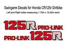 Swingarm Decals for Honda CR125 dirtbikes     CR 125 CR125r 125r