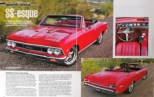 1966 Chevrolet Chevy Chevelle Convertible Original 6 Page Full Color Article Ebay