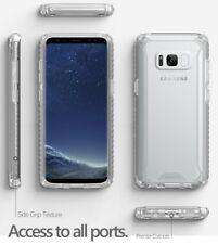 Clear for Galaxy S8 Plus Poetic Slim Fit Anti-slip Side Grip Bumper Case