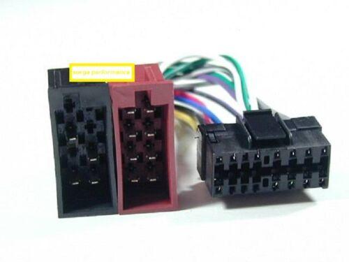 Auto-Radio Adaptador Cable para JVC conector DIN ISO arnés para coche