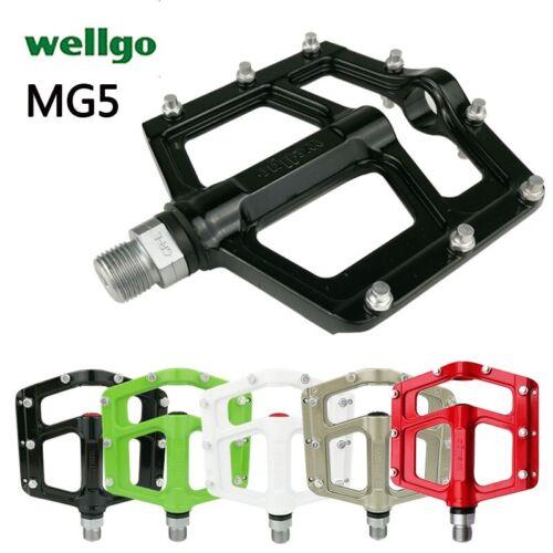 Wellgo MG-5 MG5 Magnesium Sealed BMX Mountain Bike Pedals MG1 Upgrade Genuine