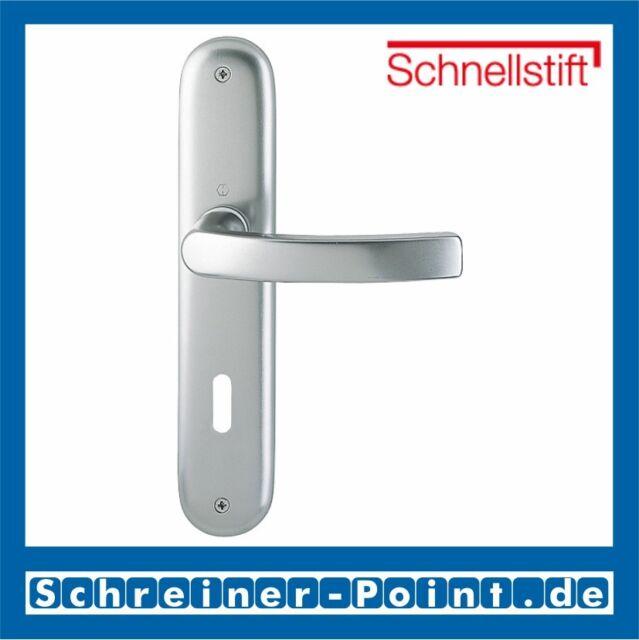 Hoppe Luxembourg F9 Alu Stahl Aluminium Langschild 199/273P OB Ovalbart BB