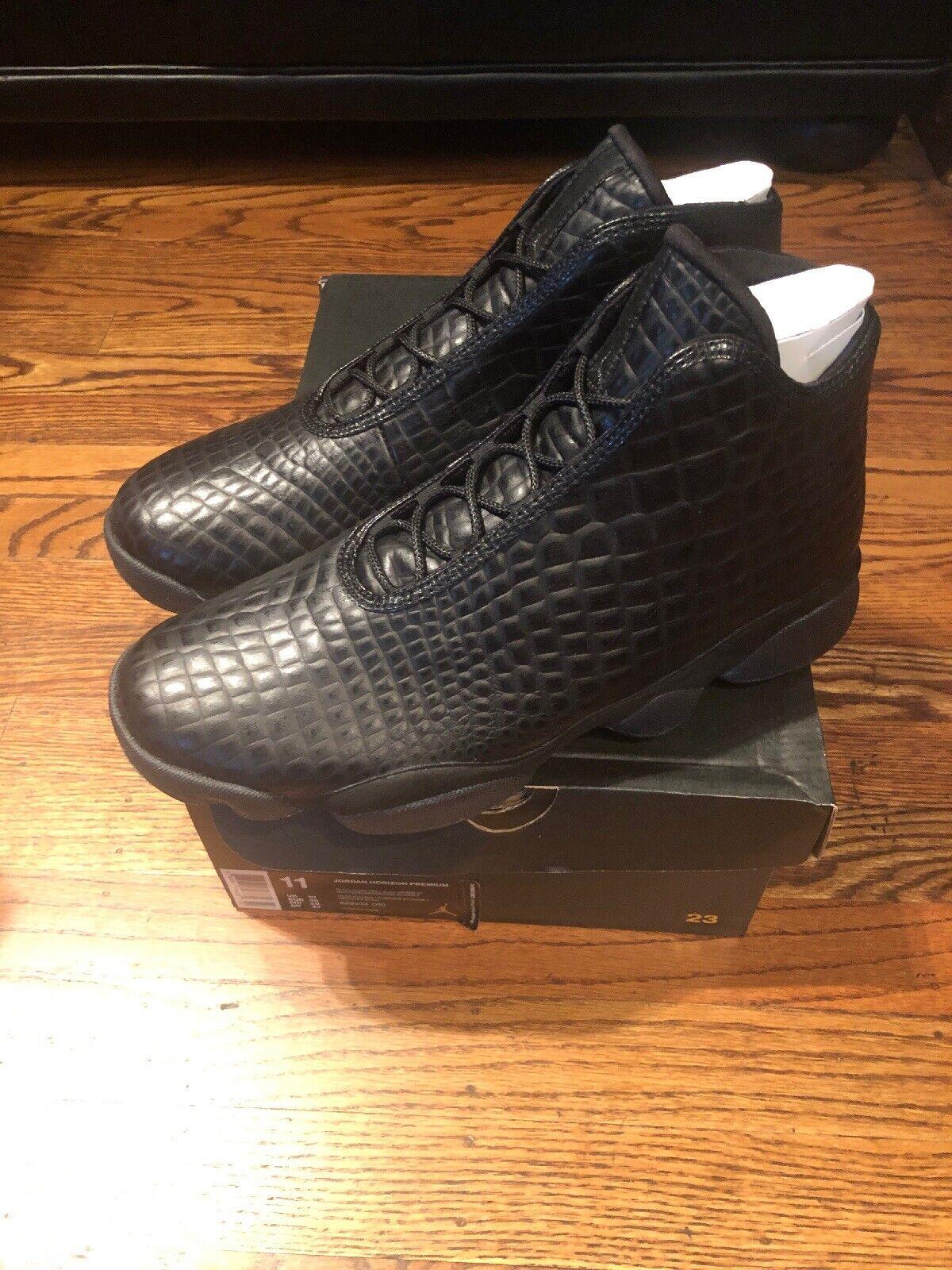 New Nike Men JORDAN HORIZON PREMIUM 822333 010 Black Size 11 Xiii 13