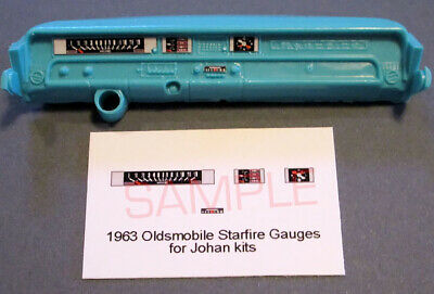 Models & Kits Responsible 1963 Oldsmobile Starfire Gauge Faces For 1/25 Scale Johan Kits Pure And Mild Flavor