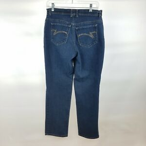 8ba26c0ef8e5 Image is loading Gloria-Vanderbilt-Size-6-Short-Womens-Jeans-Medium-