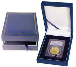 Certified-Coin-Leatherette-Display-Slab-Box-Case-Graded-Currency-Guardhouse-USA