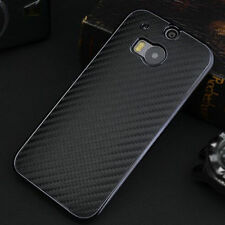 Premium New Luxury Carbon Fibre Leather Back Cover Hard Case For HTC One M8