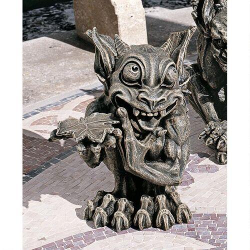 Medieval  Silly Naughty Gargoyle Statue Gothic Garden Sculpture NEW