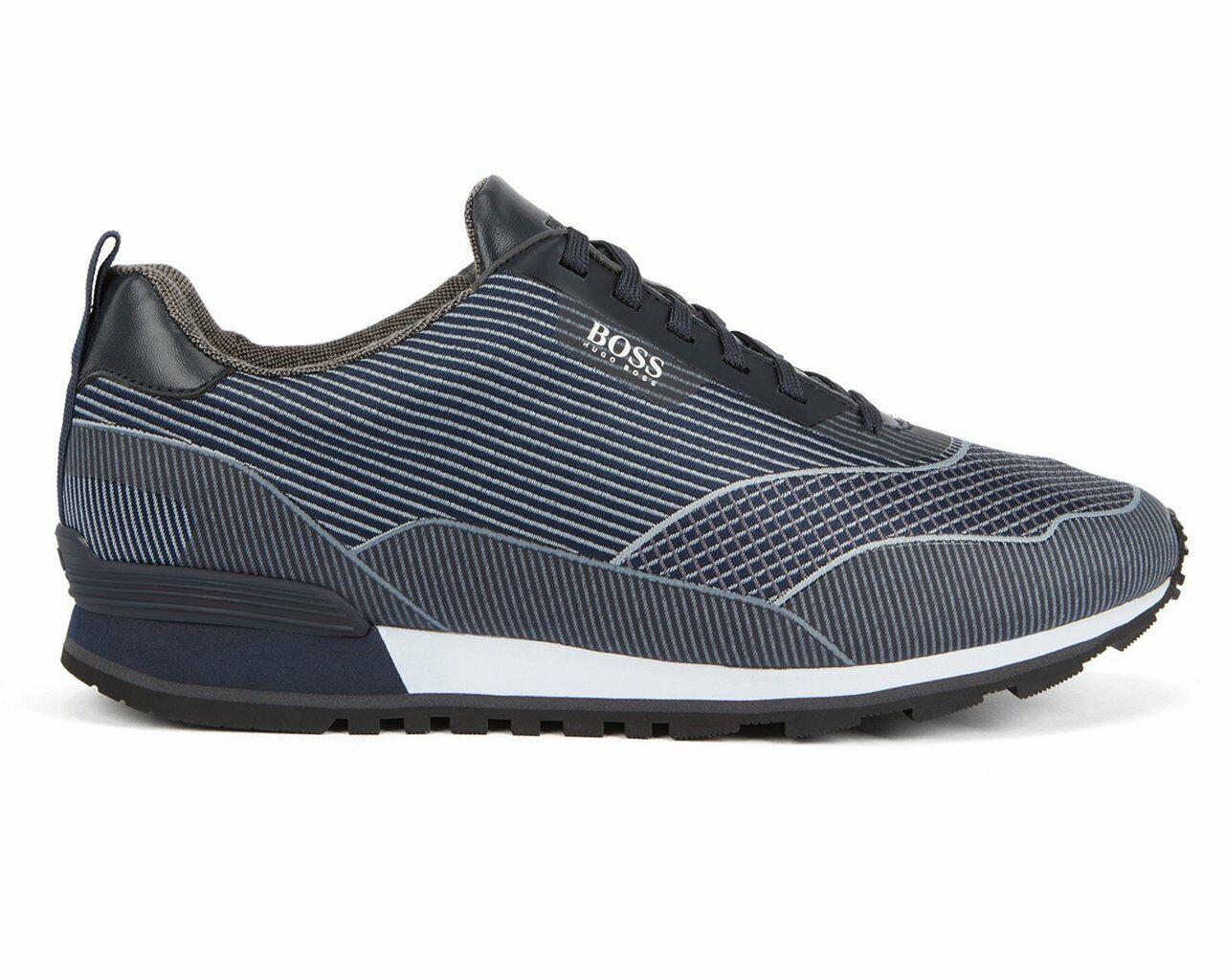 Sale Hugo Boss Zephir Runn jacq 50401841 401 Nylon Trainers Dark bluee RRP