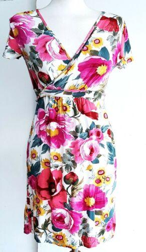 ZARA robe femme imprimé fleuri gras T-shirt Mini casual taille Femme L Large £ 19.9
