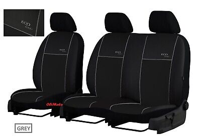 VW CRAFTER FACELIFT 2017 2018 2019 ECO LEATHER EMBOSSED TAILORED SEAT COVERS